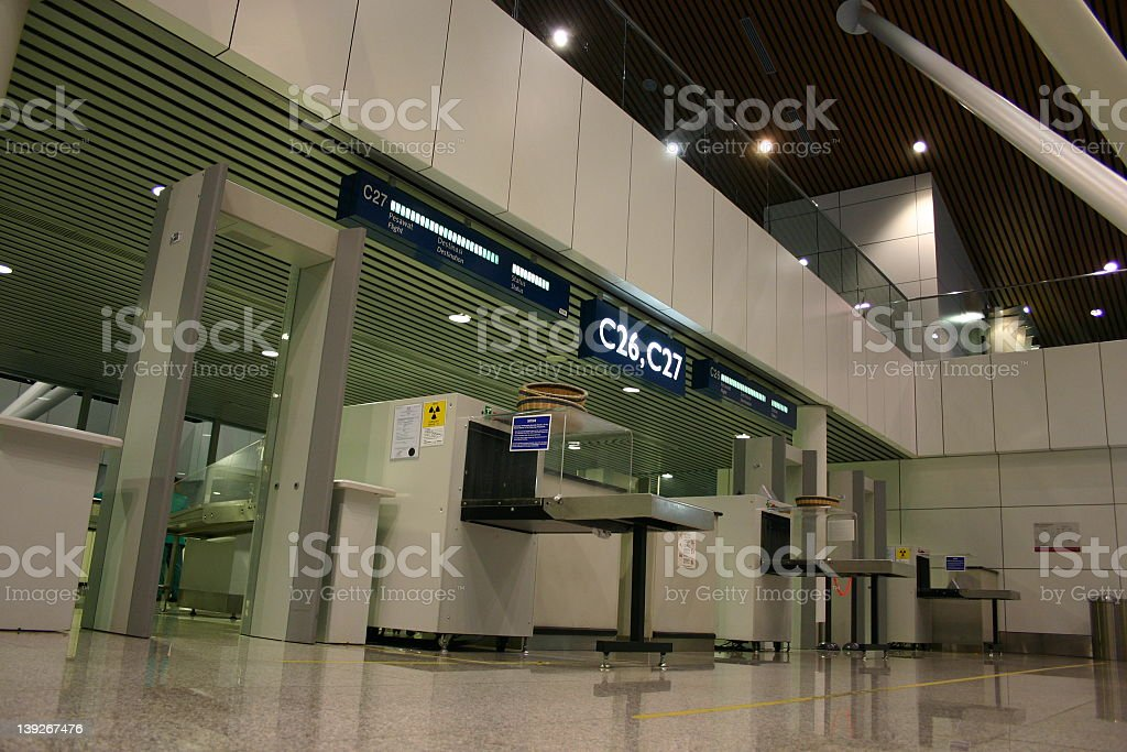 Airport Security Scanning Checkpoint royalty-free stock photo