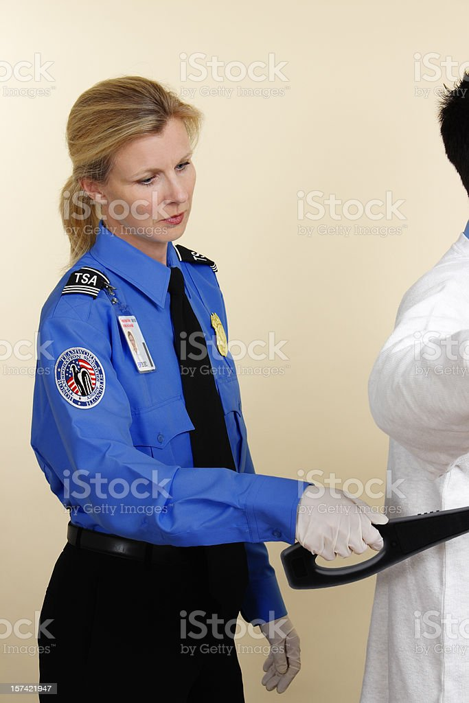 Airport Security Search royalty-free stock photo