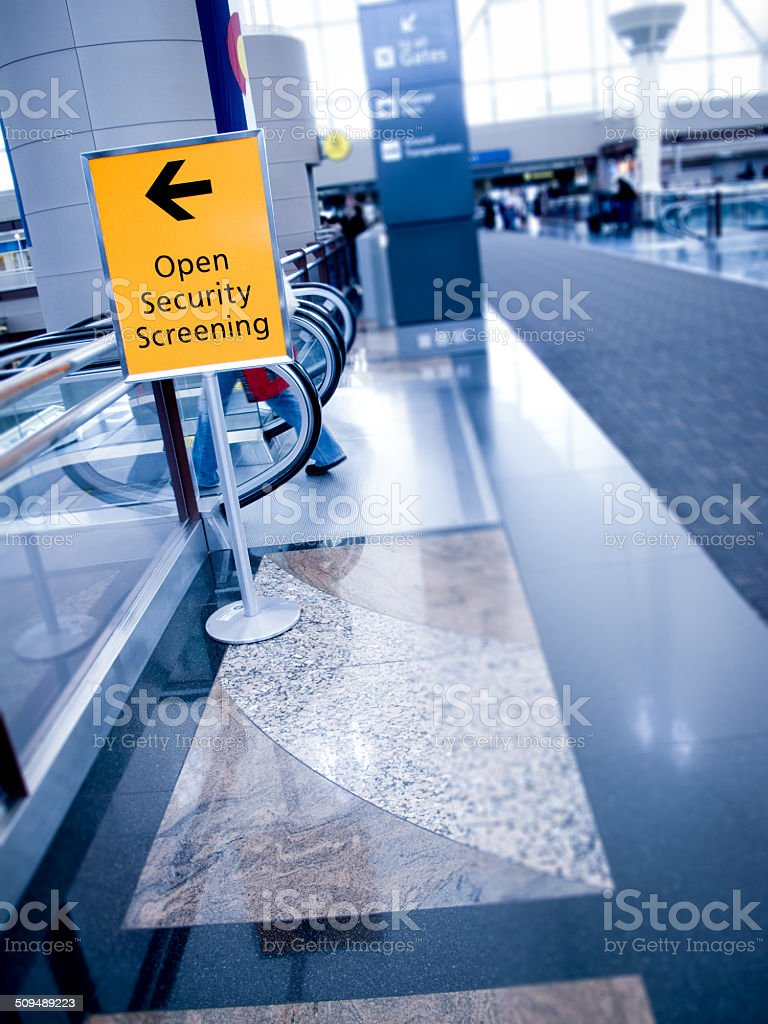 Airport Security Sign stock photo