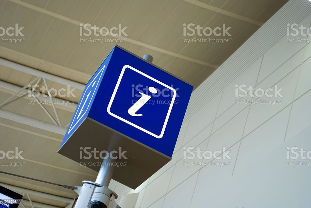 Airport Series: Information Sign stock photo