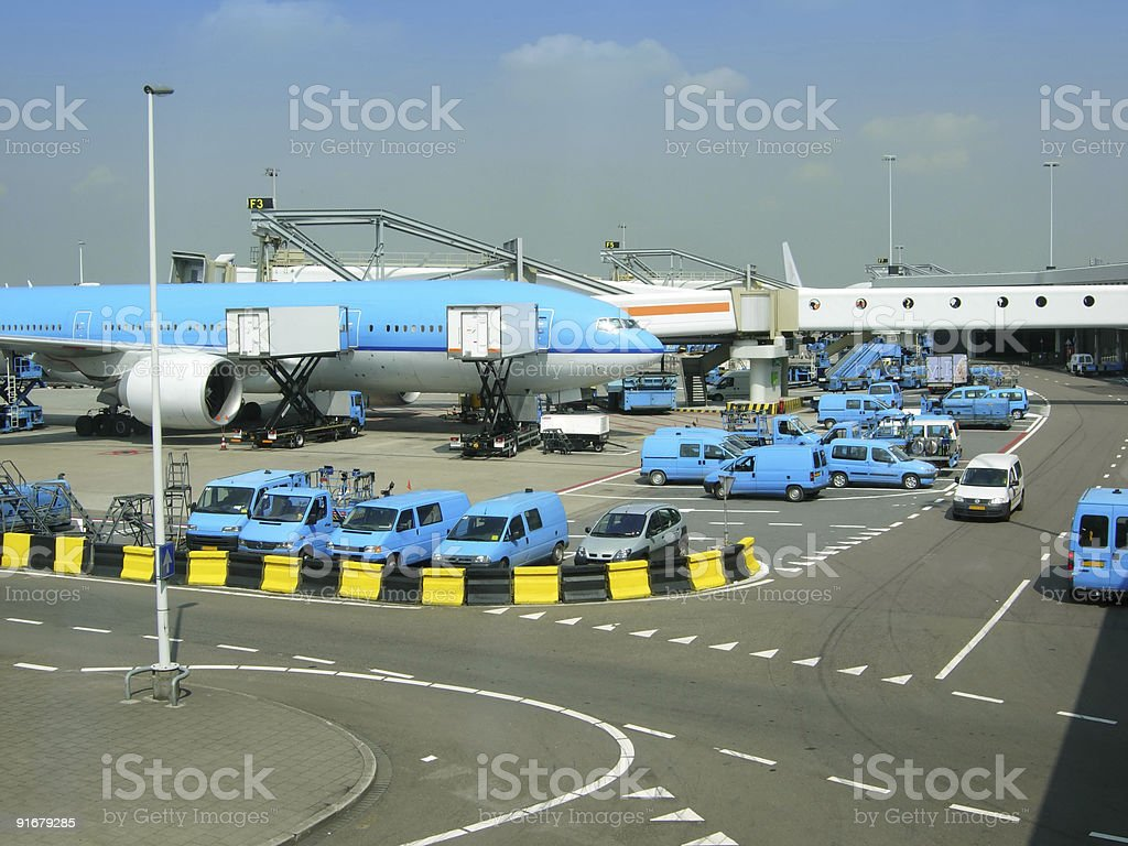 airport service royalty-free stock photo