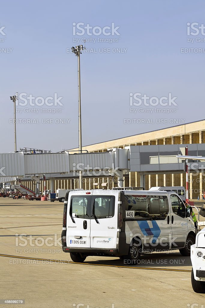 Airport Sevilla royalty-free stock photo