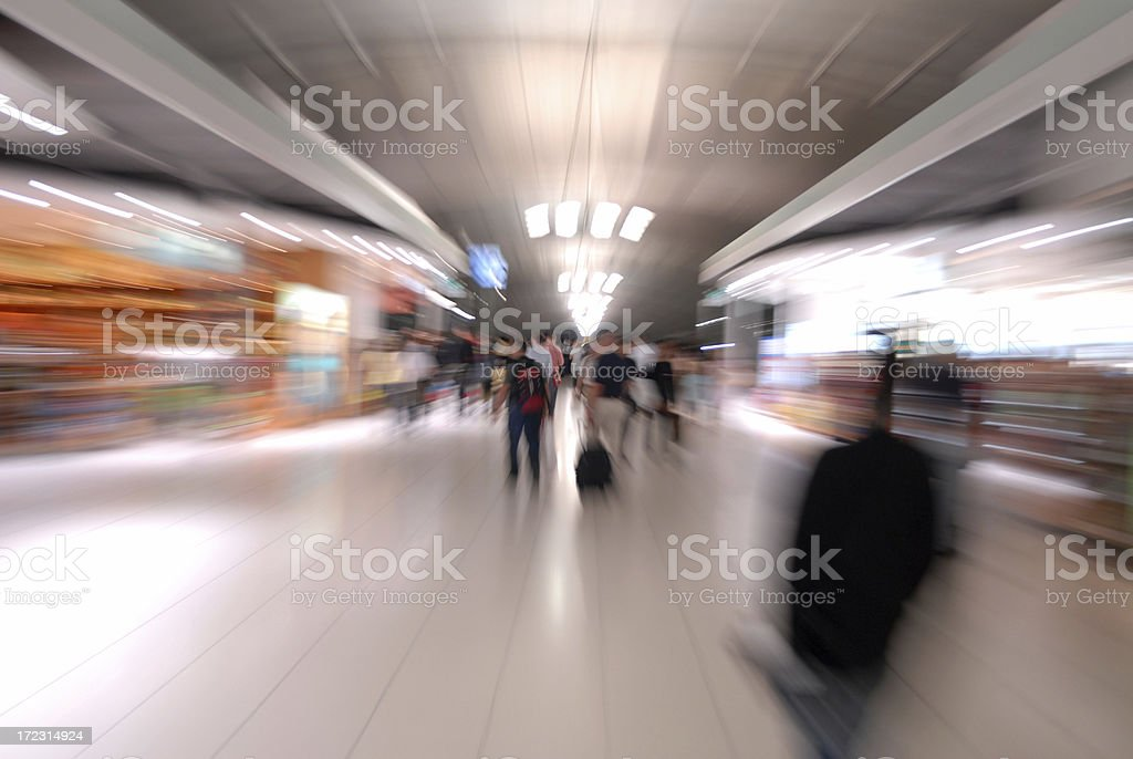 Airport Shopping Mall royalty-free stock photo