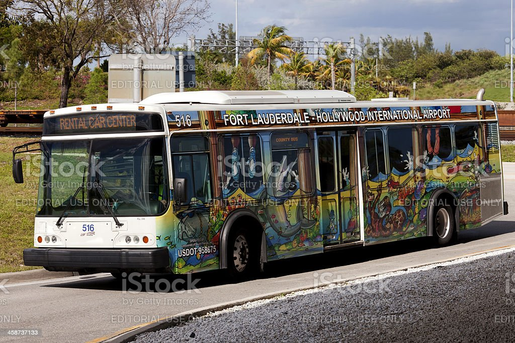 Airport Shuttle Bus royalty-free stock photo