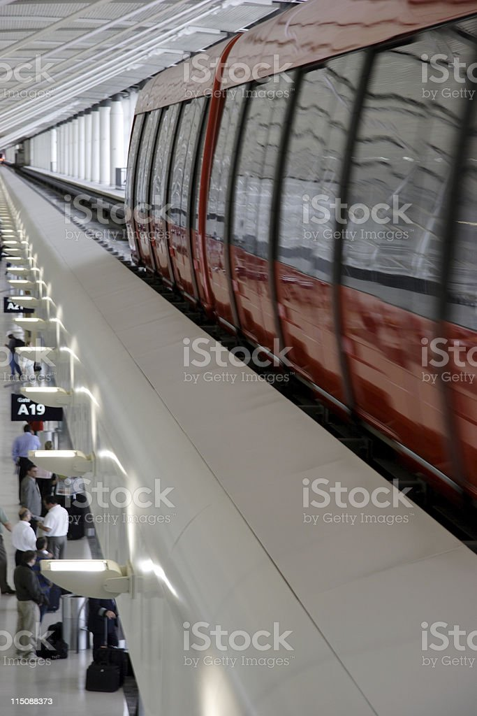 airport shuttle royalty-free stock photo