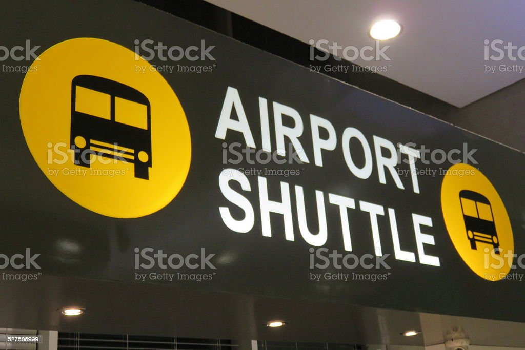 Airport Shuttle stock photo
