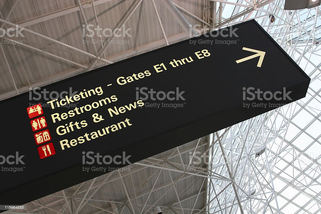 Airport sign royalty-free stock photo