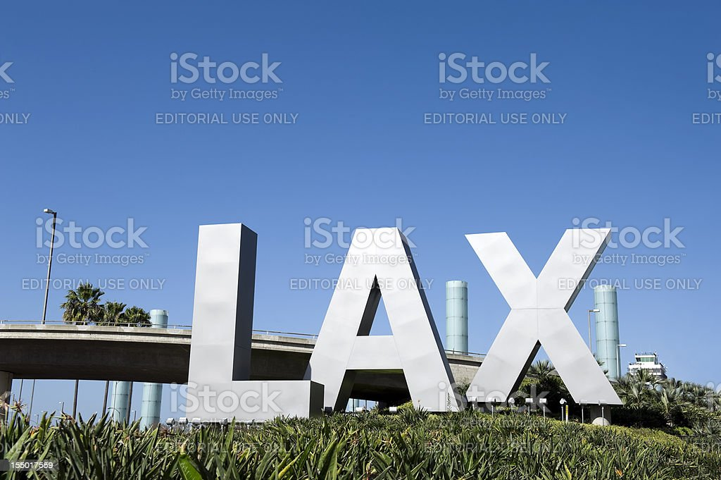 LAX Airport Sign royalty-free stock photo