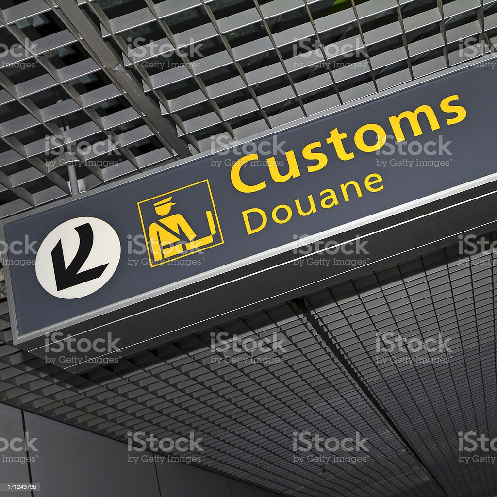 Airport sign # 64 royalty-free stock photo