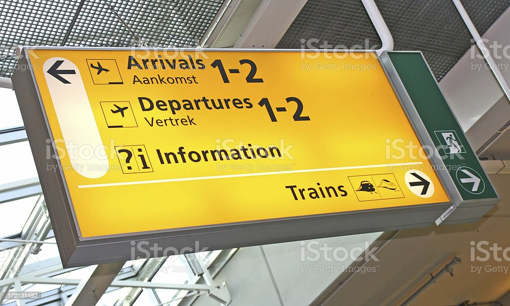 Airport sign # 1 royalty-free stock photo
