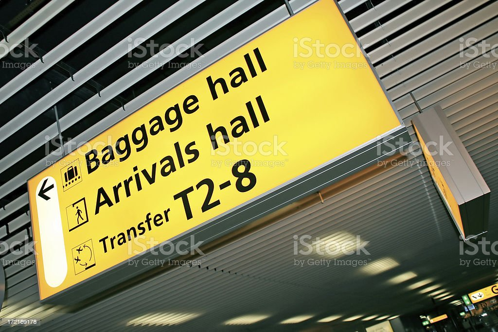 Airport sign # 2 royalty-free stock photo