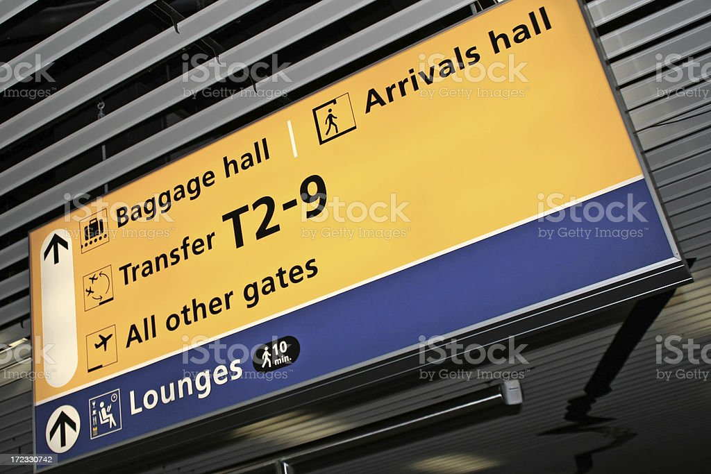 Airport sign # 15 royalty-free stock photo