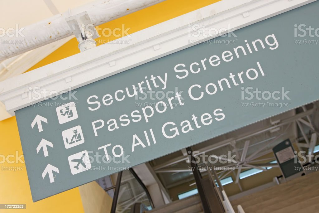Airport sign # 23 stock photo