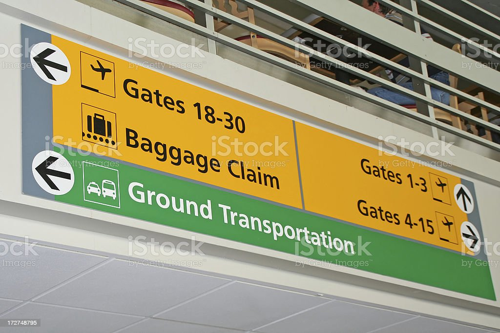 Airport sign # 16 royalty-free stock photo