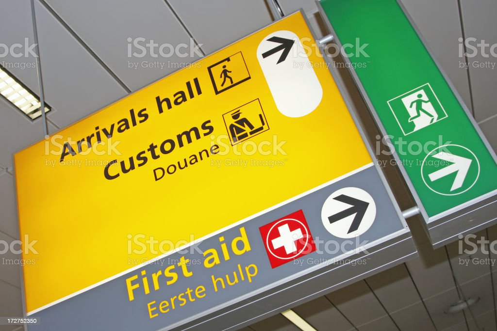 Airport sign # 17 royalty-free stock photo