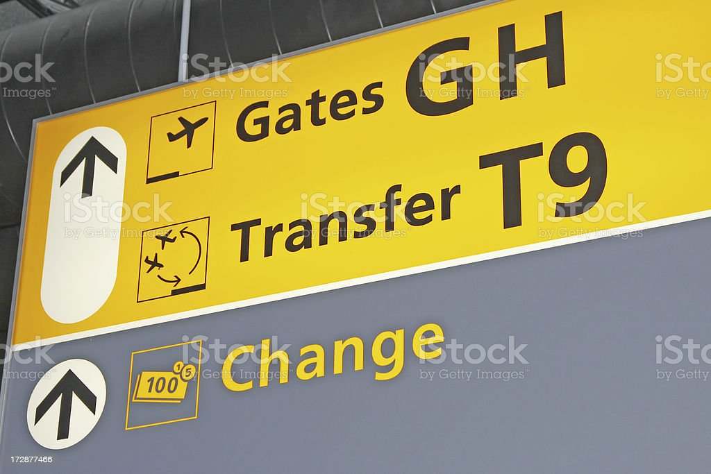 Airport sign # 20 royalty-free stock photo