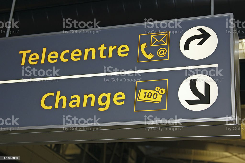 Airport sign # 30 royalty-free stock photo