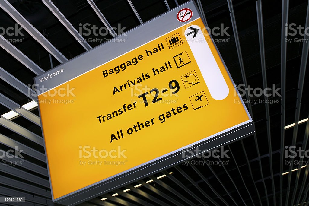 Airport sign # 35 royalty-free stock photo