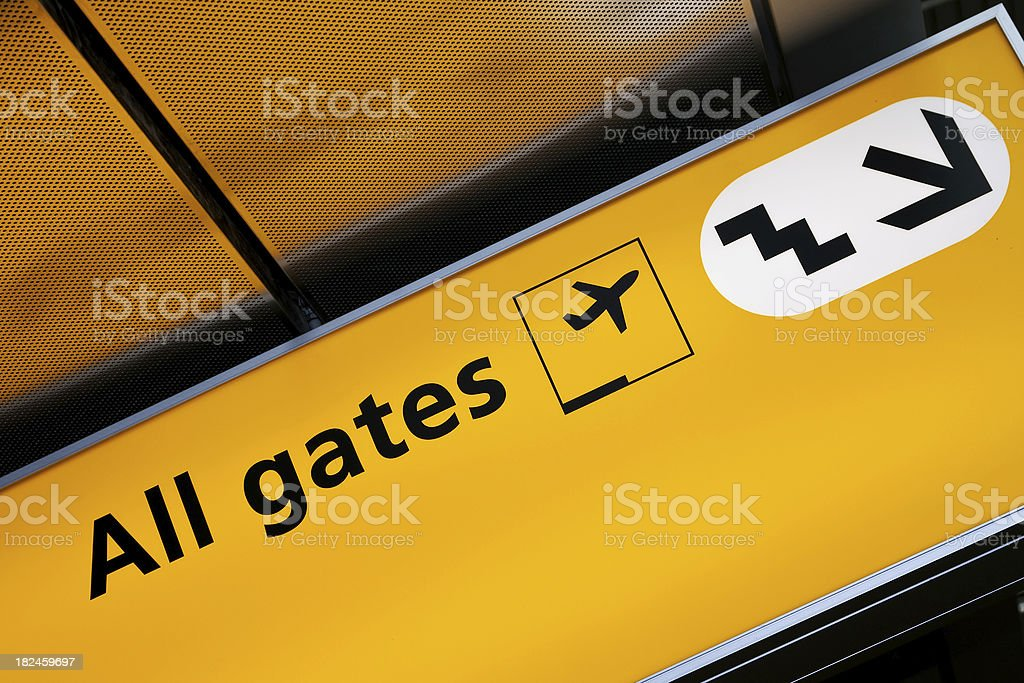 Airport sign # 45 royalty-free stock photo