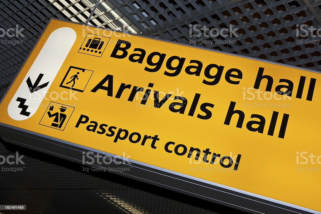 Airport sign # 48 royalty-free stock photo