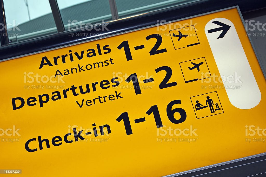 Airport sign # 56 royalty-free stock photo