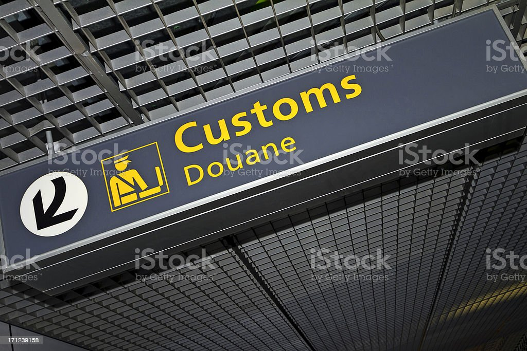 Airport sign # 62 XL royalty-free stock photo