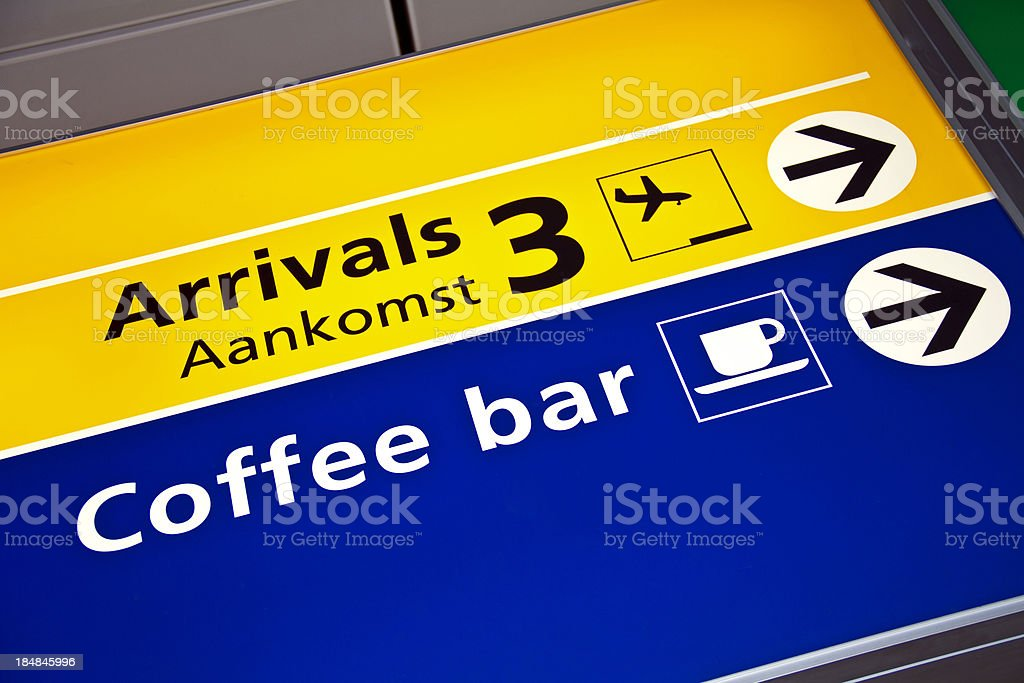 Airport sign # 60 XXL royalty-free stock photo