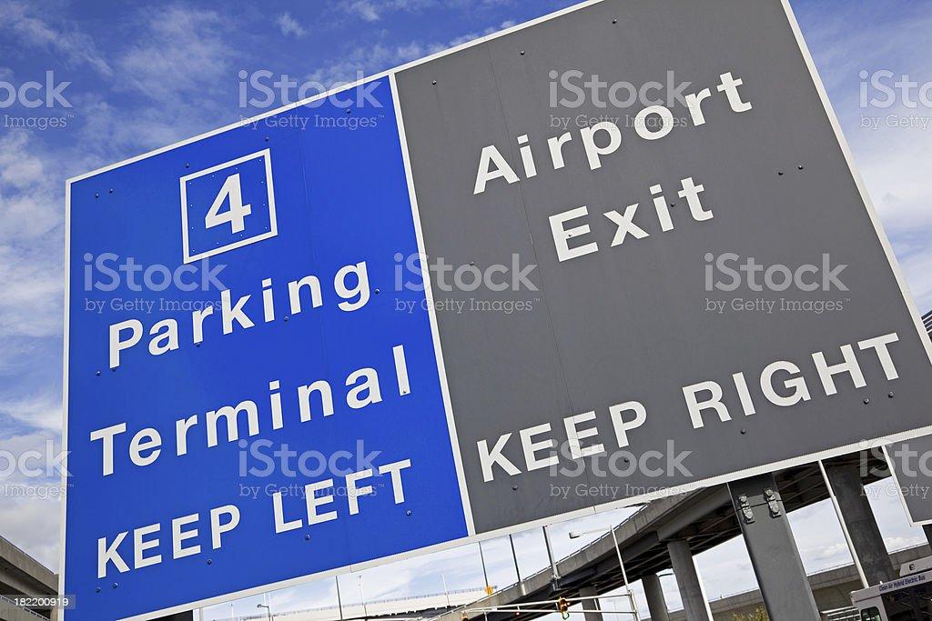 Airport sign # 37 XXXL royalty-free stock photo