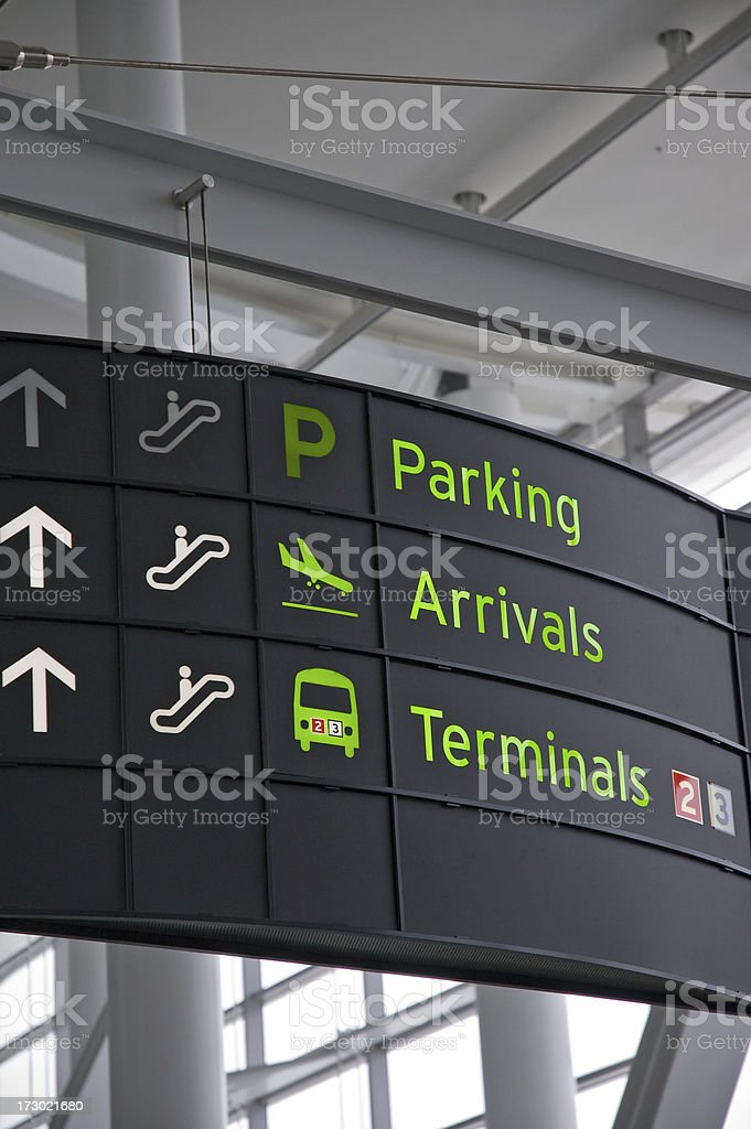 Airport Signage royalty-free stock photo