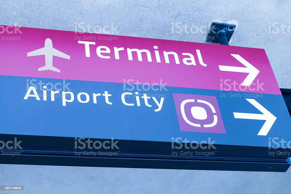 airport signboard royalty-free stock photo