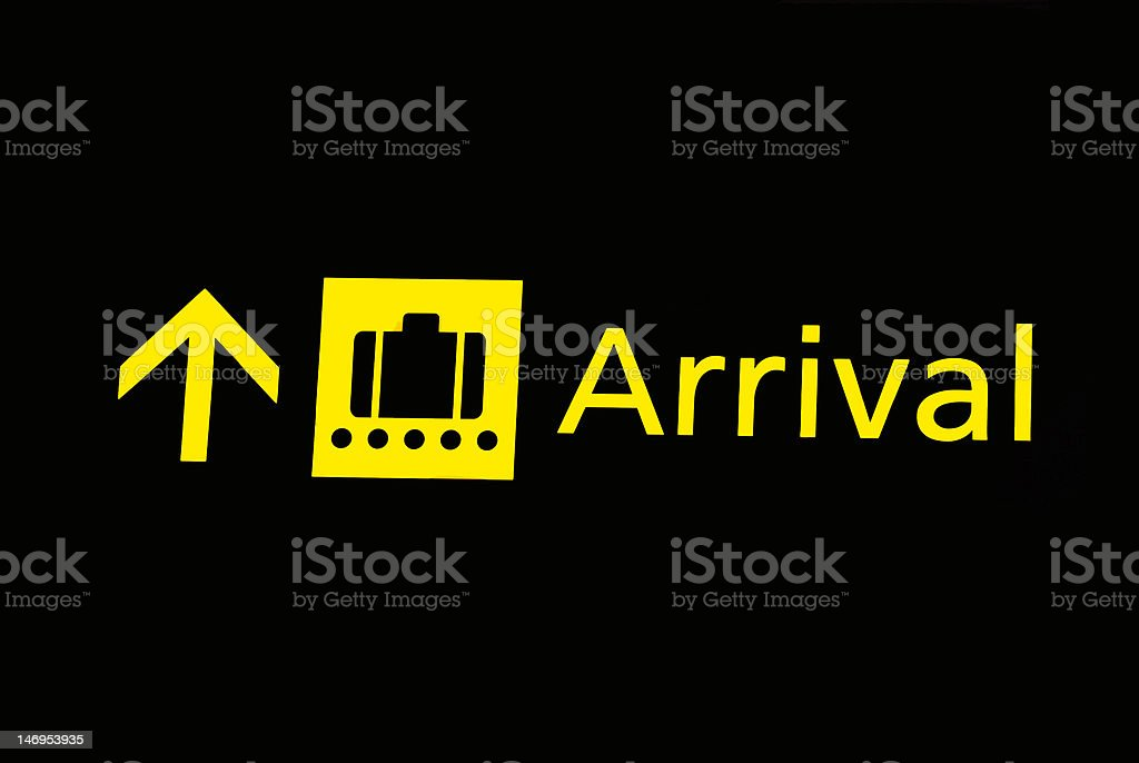Airport signs - arrival royalty-free stock photo