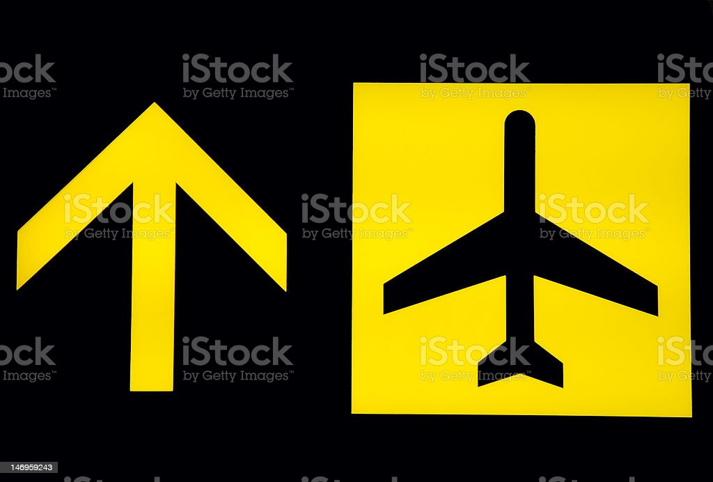 Airport signs - departure royalty-free stock photo