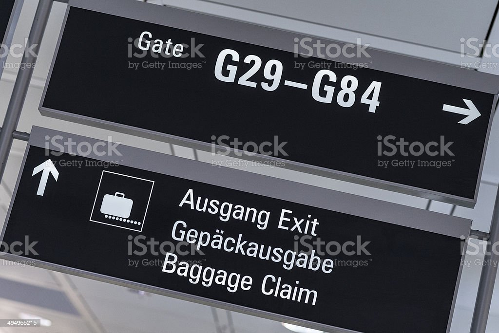 Airport signs royalty-free stock photo