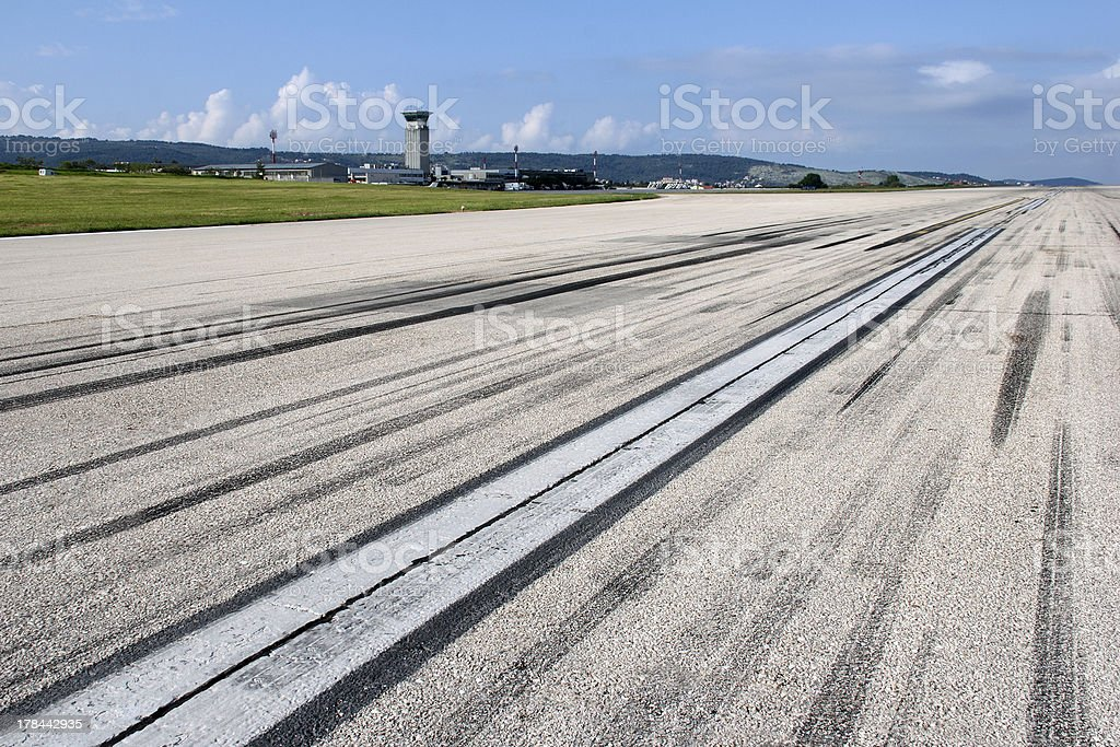 Airport Split in Croatia stock photo