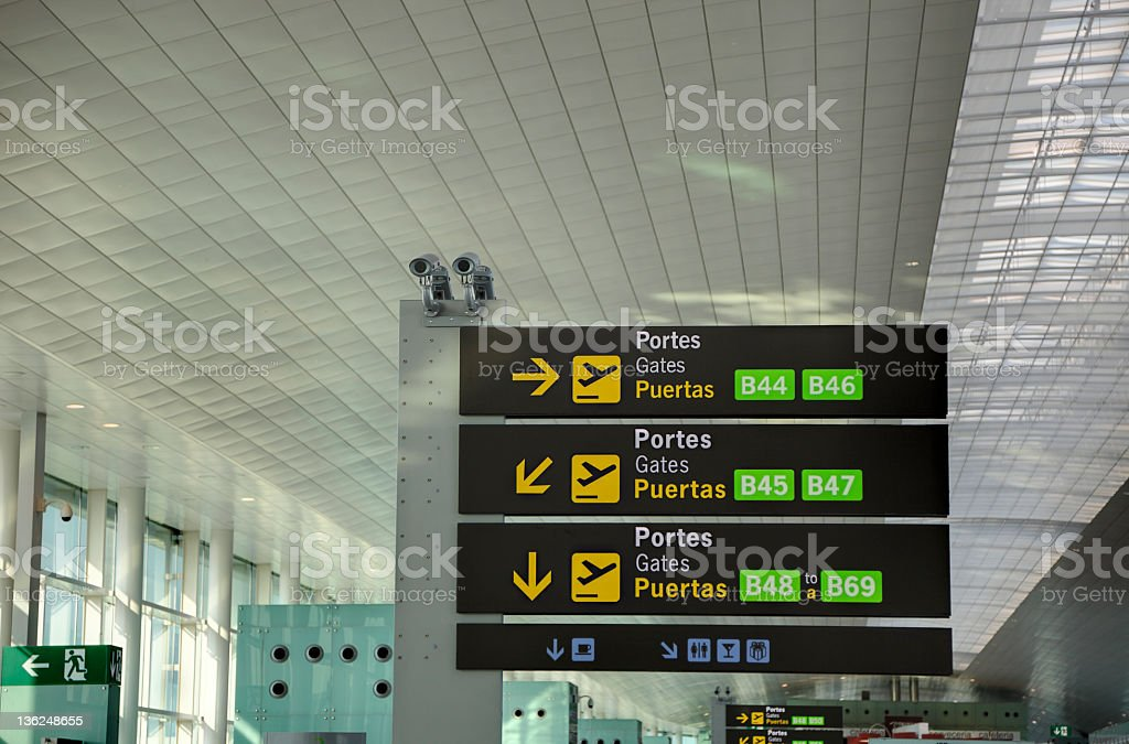 Airport Surveillance Cameras stock photo