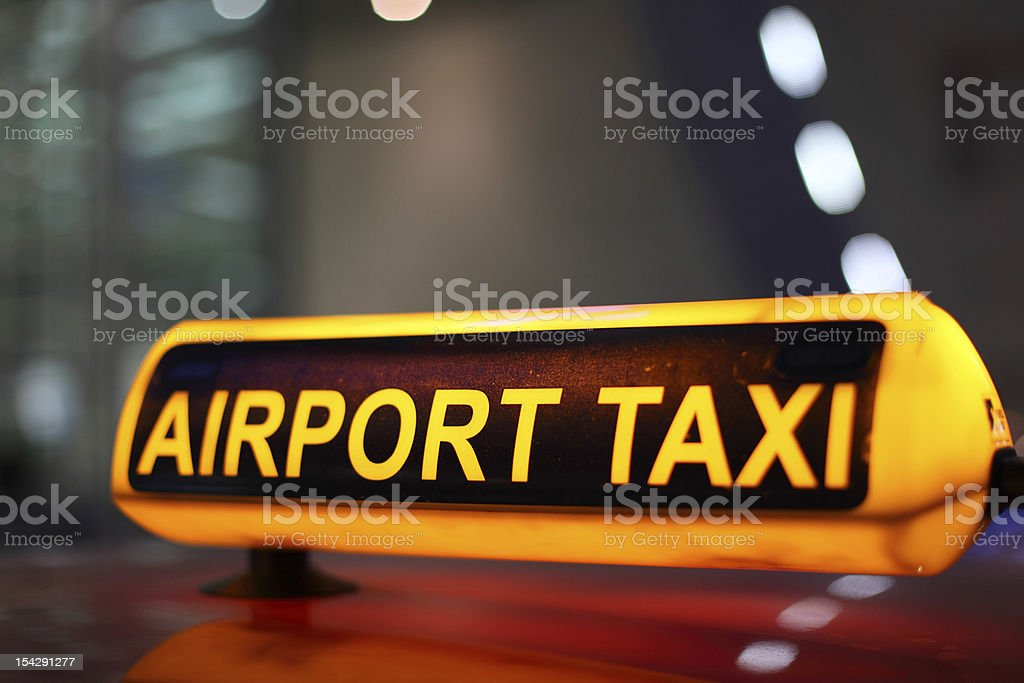 Airport Taxi stock photo