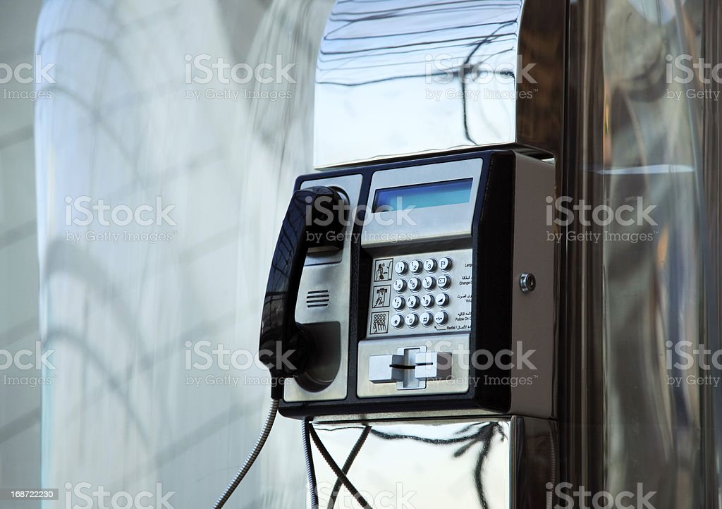 Airport telephone royalty-free stock photo