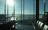 Airport terminal airplane