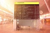 Airport terminal arrival departure timetable flight