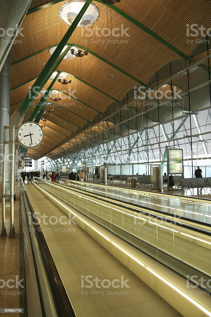Airport Terminal at 8:28 stock photo