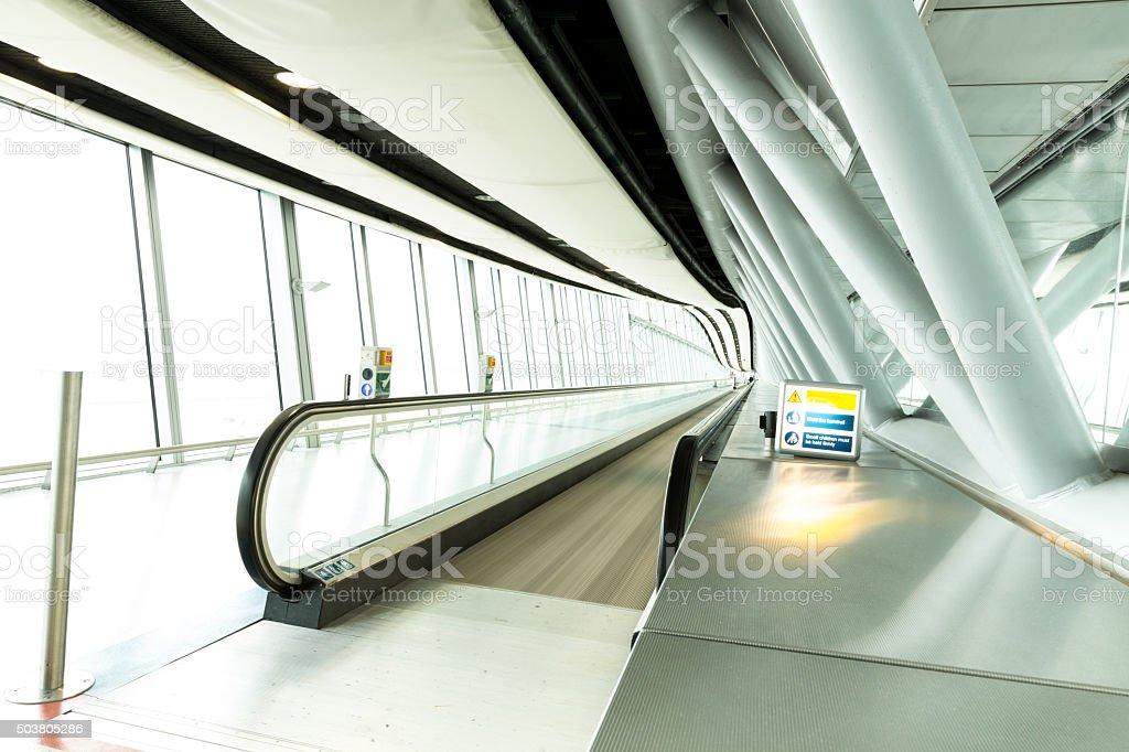 airport, terminal corridor stock photo