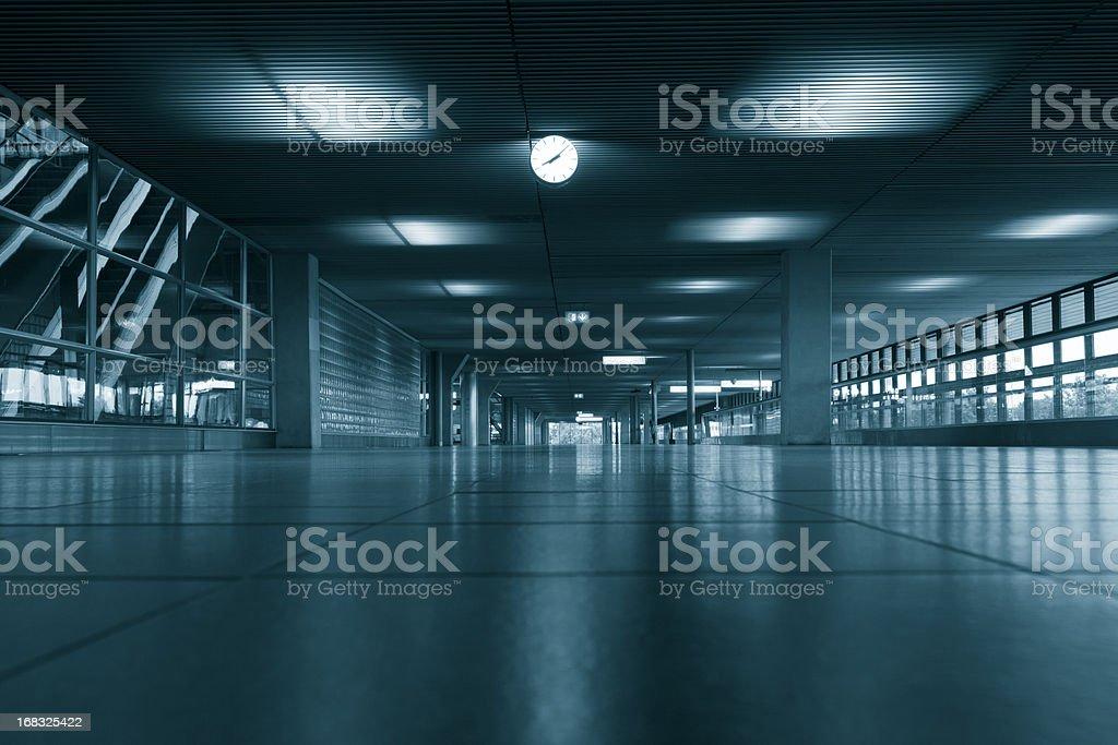 Airport terminal hall stock photo