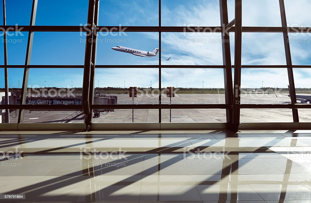Airport terminal in Jakarta stock photo