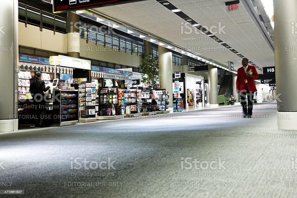 Airport terminal interior royalty-free stock photo