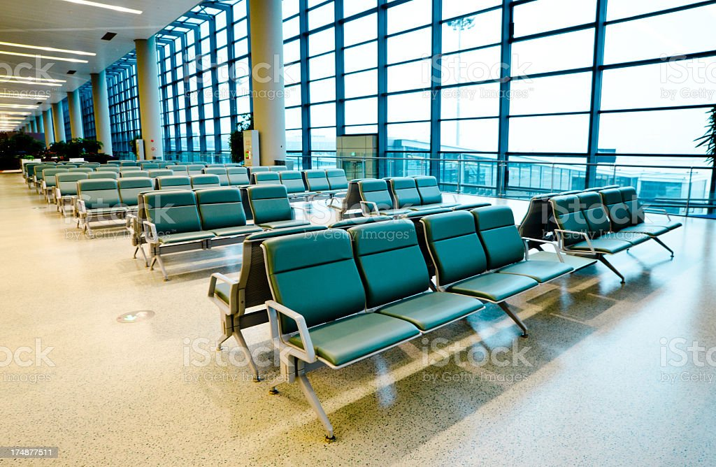 Airport Terminal Waiting Lounge royalty-free stock photo
