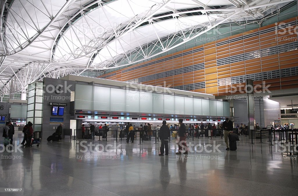 Airport Ticket Counter stock photo