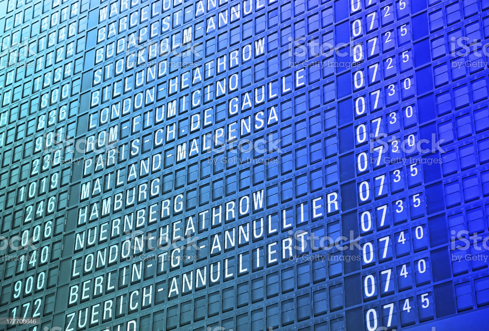 Airport timeboard royalty-free stock photo