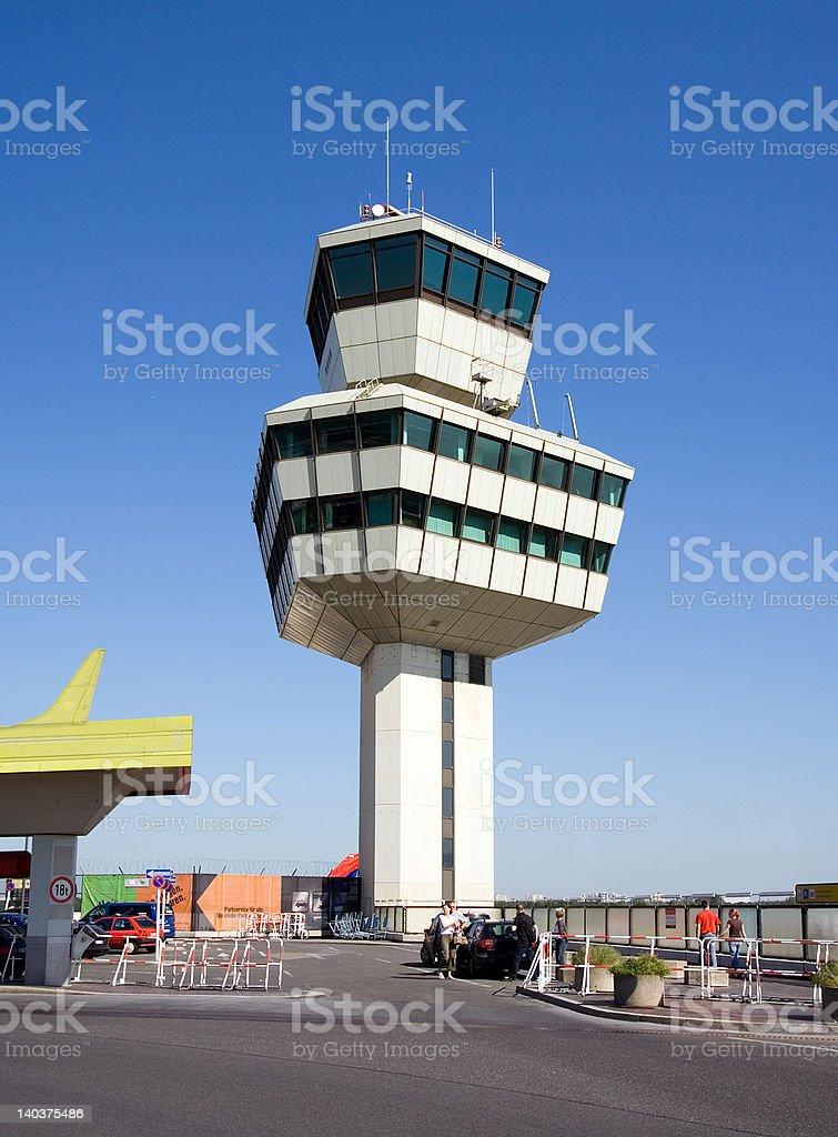 Airport Tower Berlin Tegel germany 2 stock photo