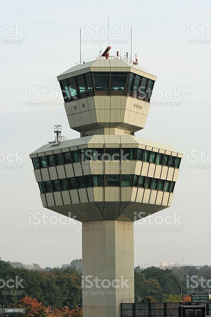 airport tower germany berlin tegel stock photo