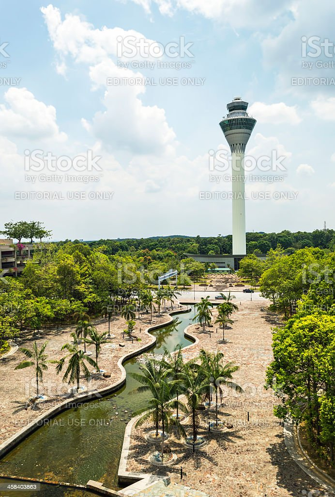 Airport  tower royalty-free stock photo